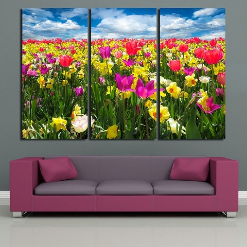 Holland Tulip Flowers Printing on Canvas