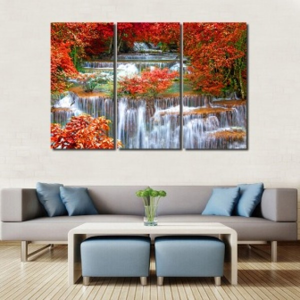 The Red Maple Tree Art Painting