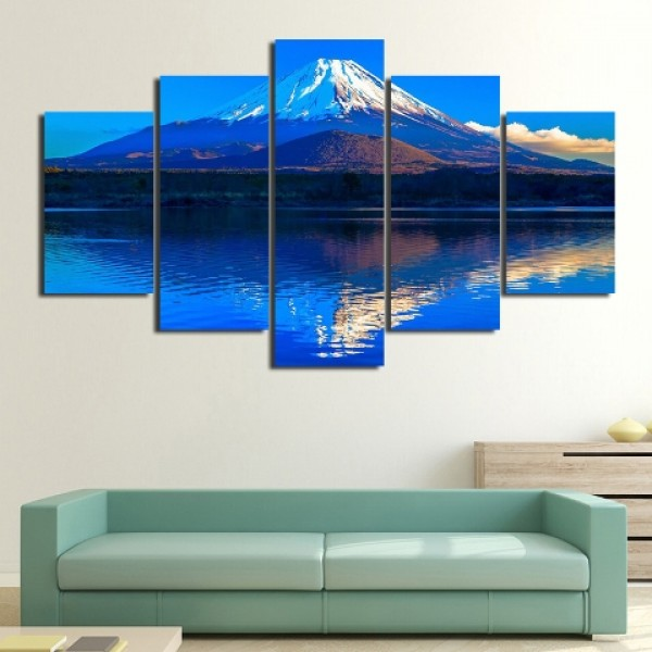 Mount Fuji Snow Picture Art Prints